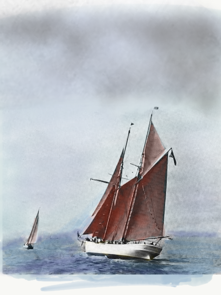Image of the original Schooner Wanderbird, 1936