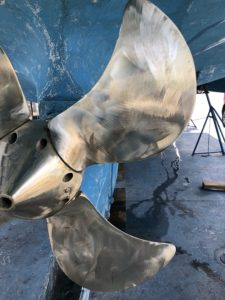 The variable pitch propellor cleaned and ready for speed-prop